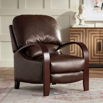 Cooper Legends Faux Leather Chocolate 3-Way Recliner - Elm Lane