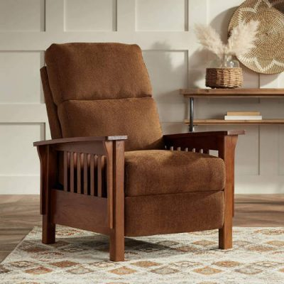 Evan Collindale Earth 3-Way Recliner Chair - Elm Lane The best mission style recliner