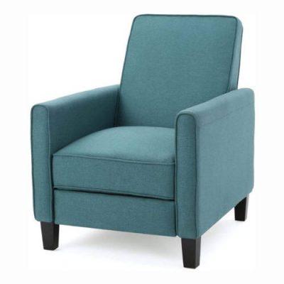 Lucas Dark Teal Fabric Recliner Club Chair