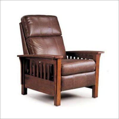 Recliner Lane Furniture Mission High-Leg Recliner in Brown